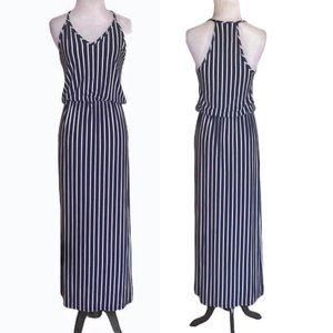 NWT - Olivia Rae Navy & White Halter Maxi Dress